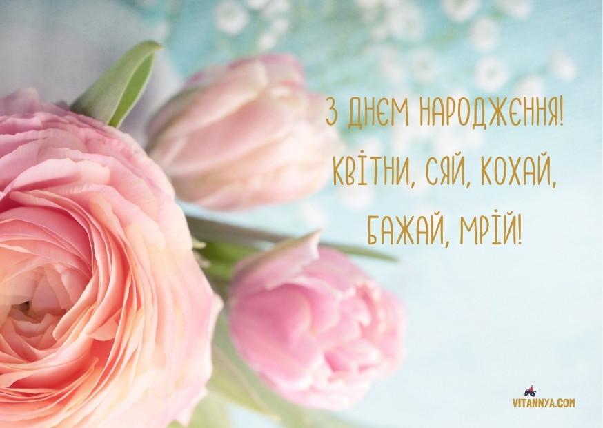 Привітання сестрі з днем народження українською мовою